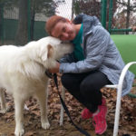 Shannon & one of the hundreds of Pyrs that she has helped since taking over CGPR.